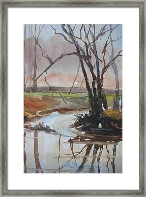 Eel River Blues Framed Print