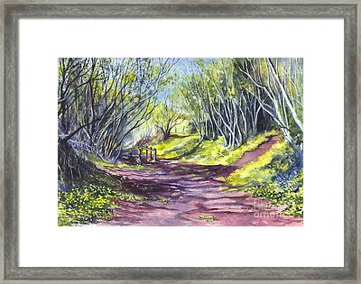 Taking A Walk Down A Spring Lane Framed Print by Carol Wisniewski