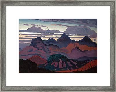 Deep Twilight Pyrenees Framed Print