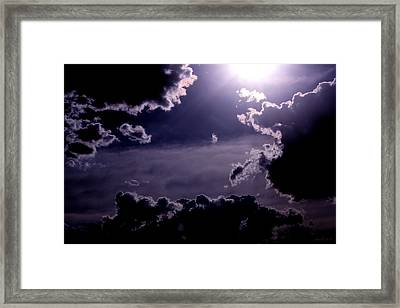 Eerie Afternoon Sky Framed Print