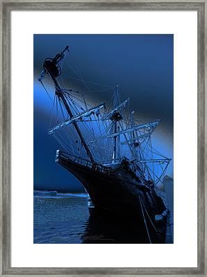 Eerie Light Over El Galeon Framed Print