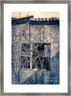 Eerie Old Shack Framed Print by Edward Fielding