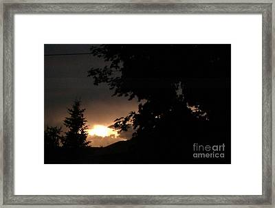 Eerie Sky After The Storm Framed Print