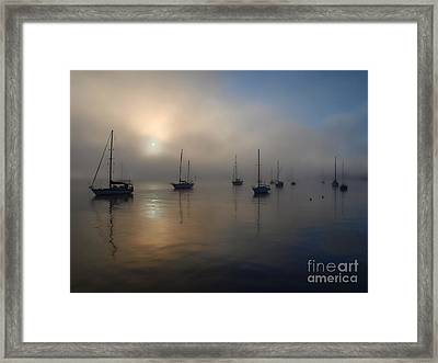 Eerie Sunrise Framed Print by Trena Mara