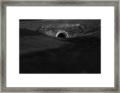 Eerie Tunnel Framed Print