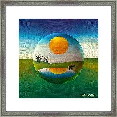 Framed Print featuring the painting Eeyorb  by Robin Moline