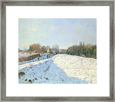 Effect Of Snow At Argenteuil Framed Print