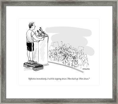 Effective Immediately Framed Print by Alex Gregor