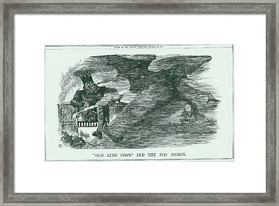 Effects Of Burning Coal On London Framed Print