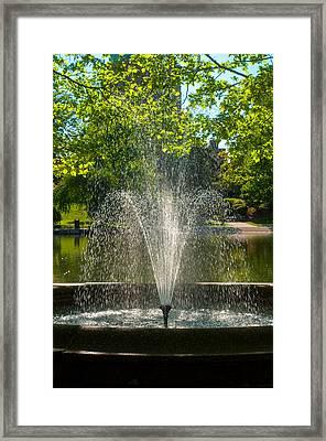 Effervscent Fountain  Framed Print
