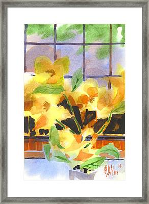 Efflorescent Magnolias Dramatic Framed Print by Kip DeVore