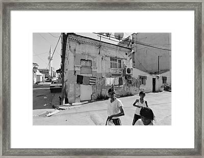 Ege Neighborhood In Izmir In Turkey Framed Print by Ilker Goksen