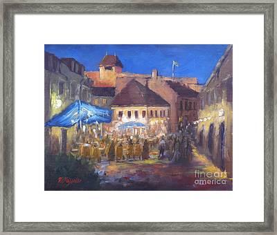 Eger At Night Framed Print