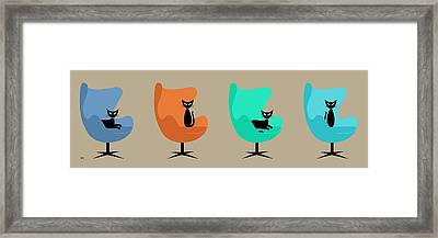 Framed Print featuring the digital art Egg Chairs by Donna Mibus