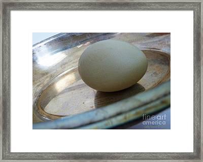 Egg In A Dish Framed Print