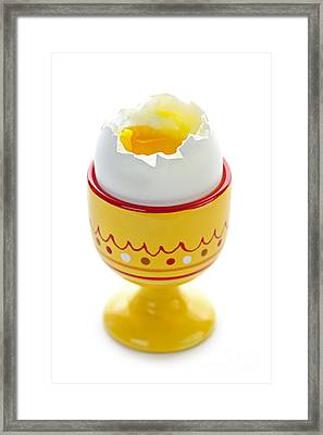Egg In Cup Framed Print