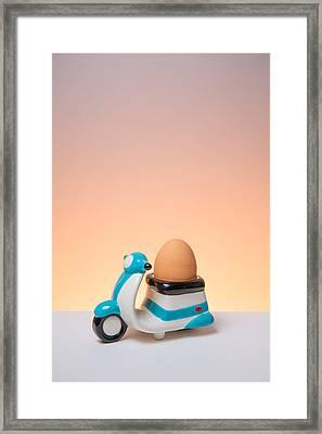 You Egg Has Arrived Framed Print by John Hickson