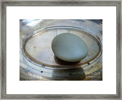 Egg On Silver Framed Print