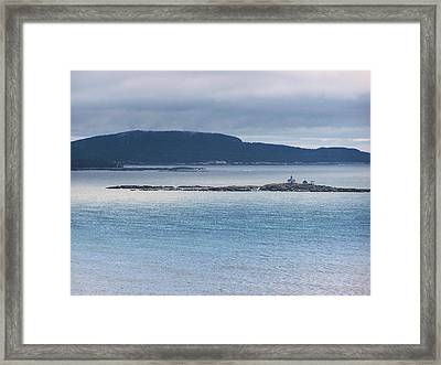 Egg Rock Light Framed Print