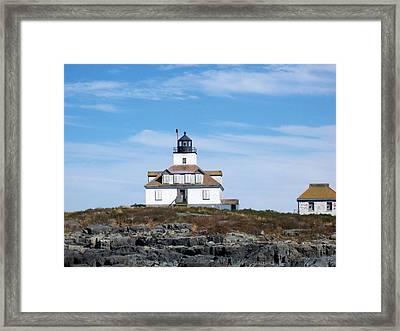 Egg Rock Lighthouse Framed Print by Catherine Gagne