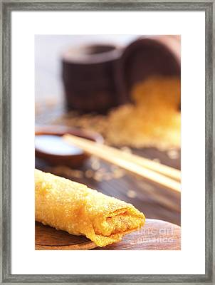 Egg Roll Framed Print by Mythja  Photography