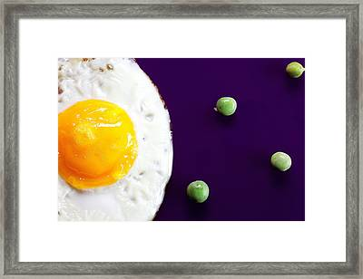 Egg Sun And Bean Planets Food Physics Framed Print by Paul Ge