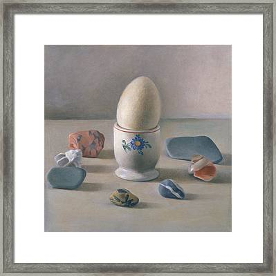 Eggcup Ritual Wc On Paper Framed Print