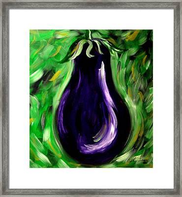 Eggplant Framed Print by Cynthia Hudson