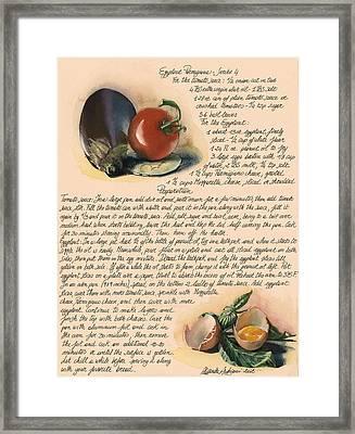 Eggplant Parmigiana Framed Print by Alessandra Andrisani