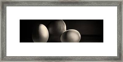 Eggs And Tomato Framed Print by Peter v Quenter