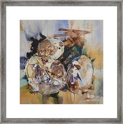 Eggs Framed Print by Donna Acheson-Juillet