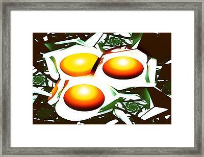 Eggs For Breakfast Framed Print by Anastasiya Malakhova