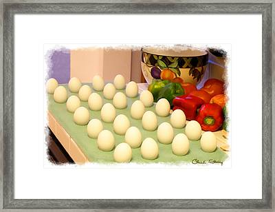 Eggs On Parade Framed Print by Chuck Staley