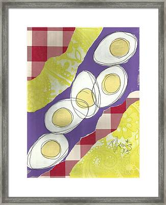 Eggs Framed Print by P J Lewis