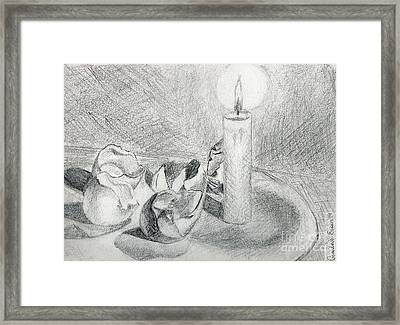 Eggshells In Candlelight Framed Print by Genevieve Esson