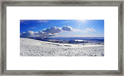Egilsstadir From The Fjardarheidi Mountain Pass Framed Print