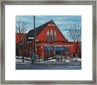 Eglise Baptiste Evangelique De La Grace De Verdun  Framed Print by Reb Frost