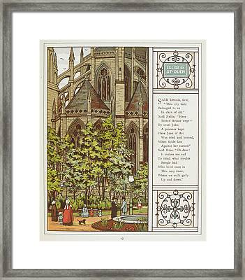 Eglise De St. Quen (saint-ouen) Framed Print by British Library