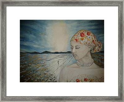 Ego Framed Print by Esztella Sandor