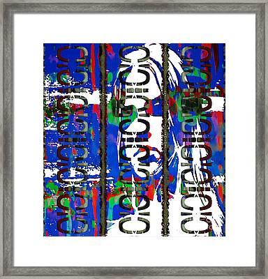 Ego With Response  Framed Print by J Burns