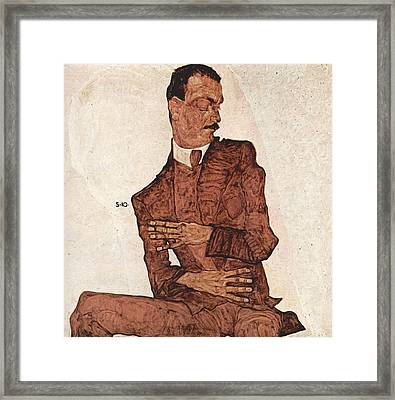 Portrait Of A Man Framed Print by Egon Schiele