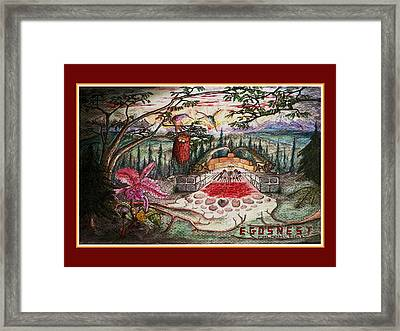 Egosnest Self Portrait With Dinosaurs Framed Print