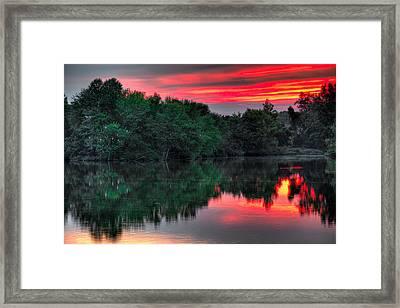 Egret Cove Sunset Framed Print by William Jobes