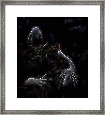 Framed Print featuring the digital art Egret Rookery 1 by William Horden