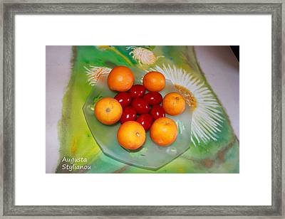 Egss Fruits And Flowers Framed Print