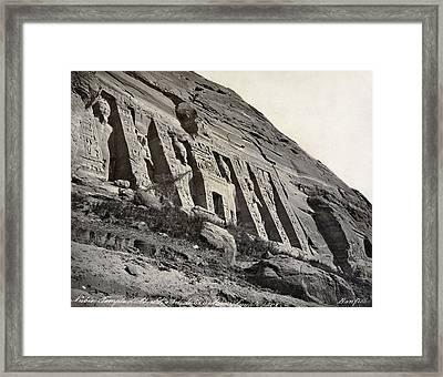 Egypt Abu Simbel Temple Framed Print by Granger