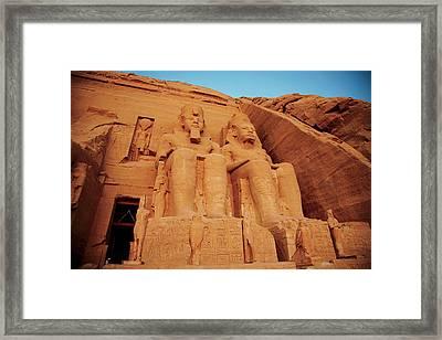 Egypt, Abu Simbel, The Greater Temple Framed Print