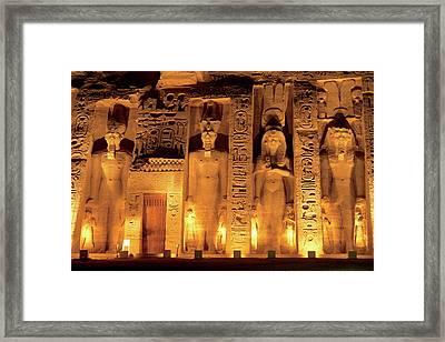 Egypt, Abu Simbel, The Temple Of Hathor Framed Print by Miva Stock