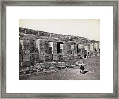 Egypt Abydos Temple Framed Print by Granger