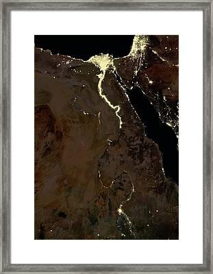 Egypt At Night Framed Print by Planetobserver